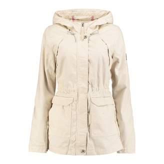Beige Hooded Comfort Jacket