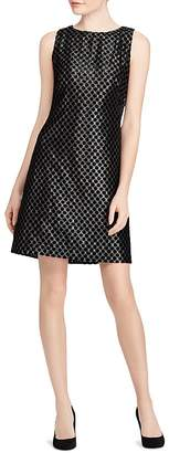 Lauren Ralph Lauren Velvet Polka Dot Lamé Dress