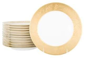 J.L. Coquet Set of 12 Khazard Dessert Plates
