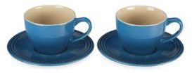 Le Creuset 7 Oz. Cappuccino Cups and Saucers Set