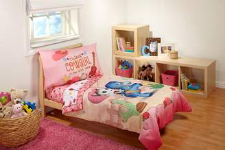 """Disney 4 Piece Sheriff Callie """"Cutest Cowgirl"""" Toddler Bed Set"""