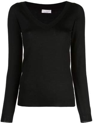 Brunello Cucinelli V-neck blouse