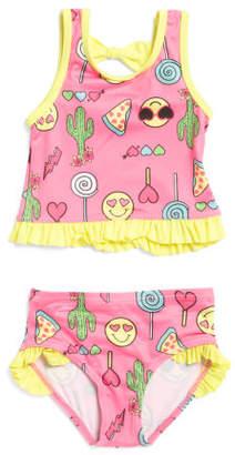 Infant Girls Emoji Tankini Swim Set