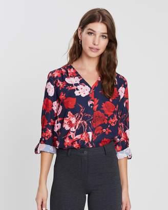 Dorothy Perkins Collarless Roll Sleeve Shirt