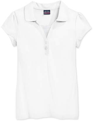 Nautica School Uniform Layered-Look Polo Shirt, Big Girls