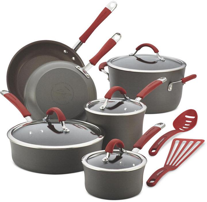 Rachael Ray Cucina Hard-Anodized Nonstick 12-Pc. Cookware Set