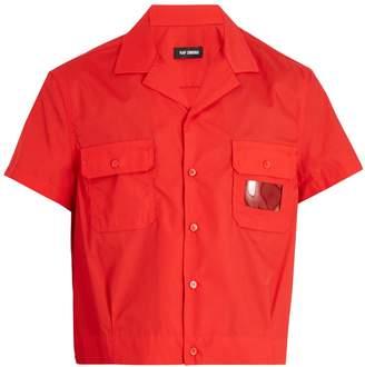 Raf Simons Notch-lapel cropped shirt