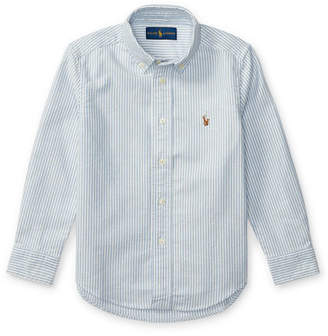 Ralph Lauren Childrenswear Cotton Oxford Stripe Sport Shirt, Size 2-3