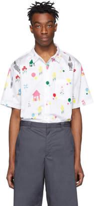 Thom Browne White Gnome Polo Collar Shirt