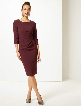 Marks and Spencer Twisted Side 3/4 Sleeve Bodycon Dress
