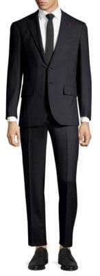 Isaia Two-Button Solid Wool Suit