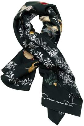 Oscar de la Renta Enchanted Forest Wool-Blend Scarf