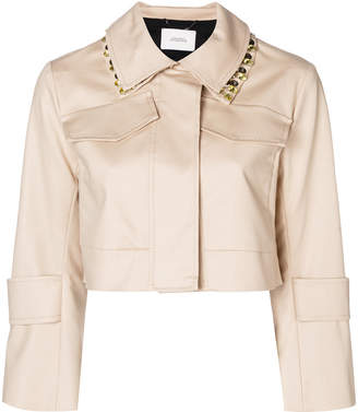 Schumacher Dorothee cropped embellished collar jacket