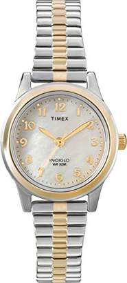 Timex Women's T2M828 Essex Avenue Two-Tone Stainless Steel Expansion Band Watch
