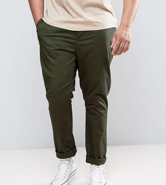 Asos Design PLUS Skinny Chinos in Dark Khaki