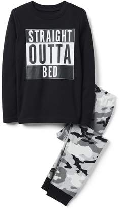 Crazy 8 Crazy8 Straight Outta Bed 2-Piece Pajama Set