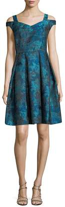 Maggy London Women's Off-The-Shoulder Fit-&-Flare Dress