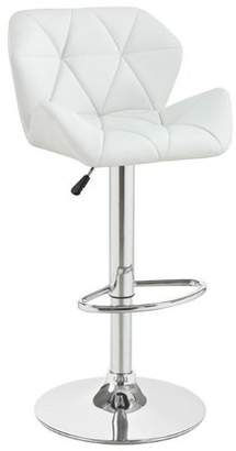 Coaster Height Adjustable Bar Stool in White
