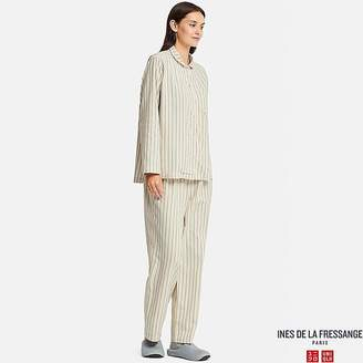 Uniqlo Women's Flannel Long-sleeve Pajamas (ines De La Fressange)