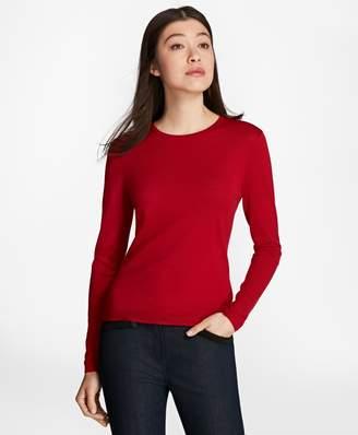 Brooks Brothers Saxxon Wool Crewneck Sweater