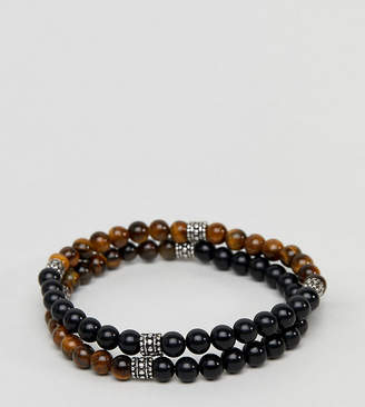 Reclaimed Vintage Inspired Beaded Bracelet In 2 Pack Exclusive To ASOS