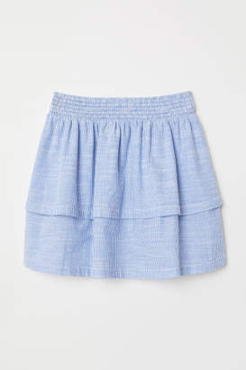 H&M Striped Tiered Skirt - Blue
