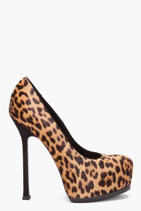 YVES SAINT-LAURENT Leopard Heels