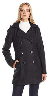 Nautica Women's 3/4 Hooded Peacoat $84.47 thestylecure.com