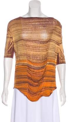 Raquel Allegra Distressed Tie-Dye Top