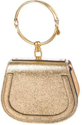 Chloé Nile Metallic Leather Saddle Bag
