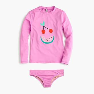 J.Crew Girls' fruit face rash guard set