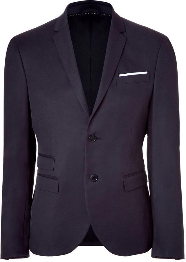 Neil Barrett Navy Two-Button Blazer