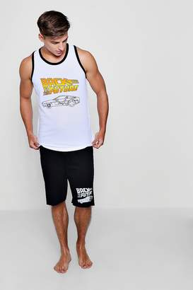 boohoo Back To The Future Vest And Shorts Lounge Set