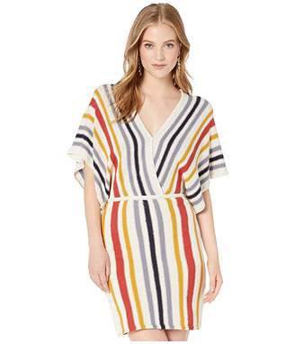 Cupcakes And Cashmere Frances Striped Sweater Knit Dolman Dress
