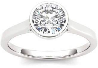 Imperial Diamond Imperial 1 Carat T.W. Diamond Solitaire Bezel-Set 14kt White Gold Engagement Ring