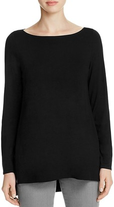 Eileen Fisher Boat Neck Top $138 thestylecure.com