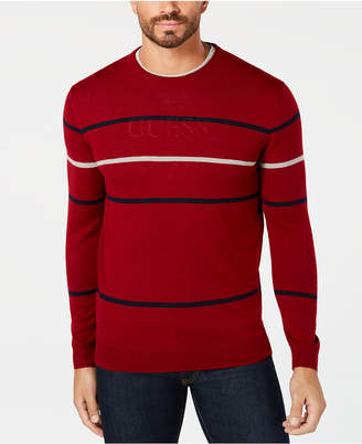 Club Room Men's Merino Pop Striped Sweater