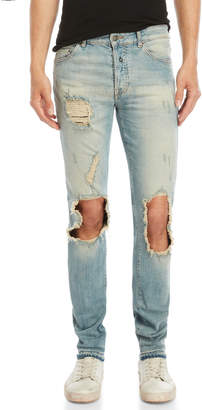 Marcelo Burlon County of Milan Pecho Distressed Slim-Fit Jeans