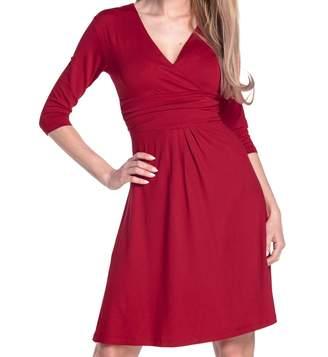 Glamour Empire Women's Knee Length 3/4 Sleeve Viscose Circle Dress 282 (, US, XL)