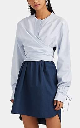 Cédric Charlier Women's Striped Cotton Shift Dress - Blue Pat.