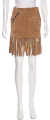 Barbara Bui Leather Mini Skirt Brown Leather Mini Skirt