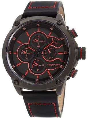Joshua & Sons JX133 Black Casual Quartz Watch With Leather Strap [JX133BK]