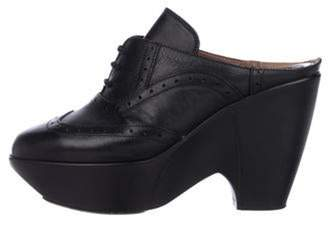 Marni Leather Lace-Up Booties Black Leather Lace-Up Booties