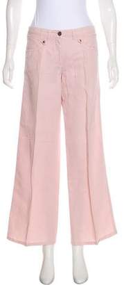 Armani Collezioni Mid-Rise Hemp-Blend Pants