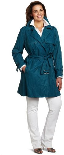 Kenneth Cole Women's Plus-Size Metal Flared Trench Coat