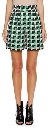 Emporio Armani Check-Jacquard Shorts