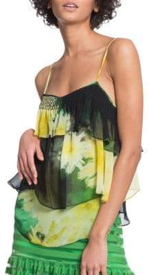 Tracy Reese Floral Flounced Cami
