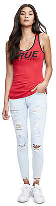 True Religion ANKLE SUPER SKINNY FIT DISTRESSED JEAN