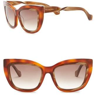 Balenciaga 55mm Squared Cat Eye Sunglasses