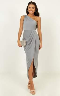 Showpo Felt So Happy Dress in dusty blue - 14 (XL) Bridesmaid